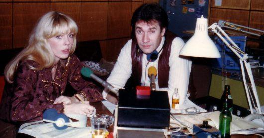 Gerd Leienbach in der WDR2-Silvestersendung 1989 mit Frau Gila
