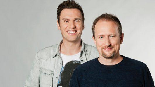 Mission Feiertag: 1LIVE-Moderatoren Michael Imhof und Olli Briesch (Bild © WDR/Annika Fußwinkel)