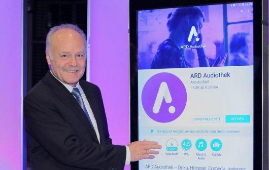 SWR-Intendant Peter Boudgoust stellte bei den ARD Hörspieltagen in Karlsruhe die ARD Audiothek der Öffentlichkeit vor. (Bild: ©Peter A Schmidt)