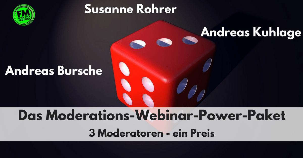 Webinar-Power-Paket mit Andreas Bursche, Susanne Rohrer und Andreas Kuhlage
