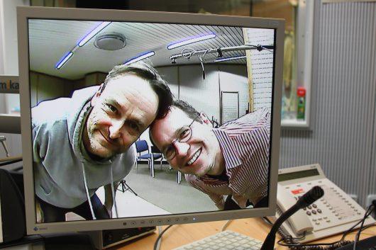"""Die Macher von """"Cybercrime"""": HR iNFO-Redakteure Oliver Günther und Henning Steiner (Bild: hr/Tina Giotitsa)"""