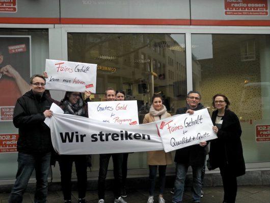 Warnstreik bei Radio Essen (Bild: ©Karlheinz Stannies)