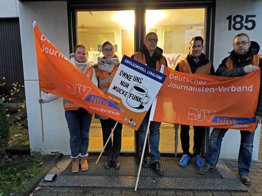 Warnstreik bei Radio Wuppertal (Bild: ©Sascha Fobbe)