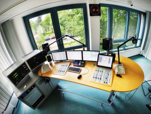 Ems-Radio-Studio in Belgien (Bild: Team Sven Gatz/pintererst.com)