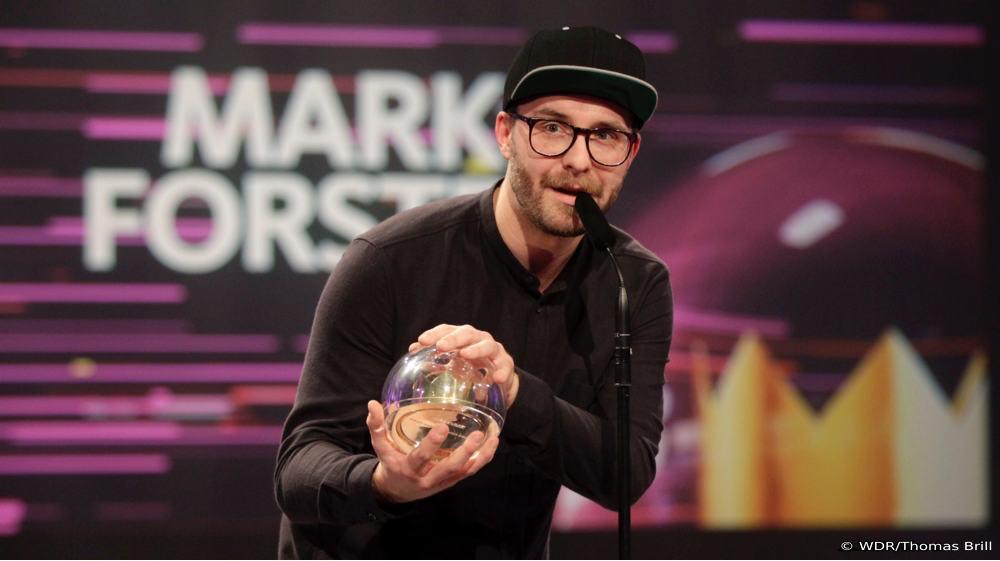 Mark Forster gewinnt 1LIVE Krone 2017 (Bild: ©WDR/Thomas Brill)