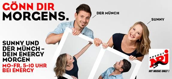 Sunny und der Münch: Neue ENERGY München-Morgenshow