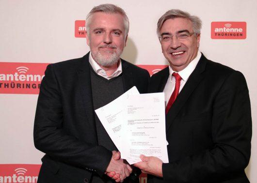 Marco Maier und Jochen Fasco (Bild: ©ANTENNE THÜRINGEN)