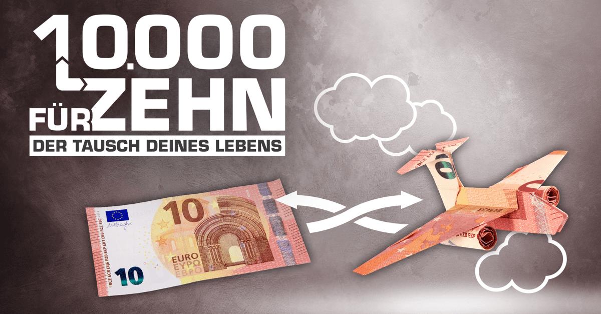 10000 für 10 – Der Tausch Deines Lebens: Das 10er Checker-Gewinnspiel bei radio NRW