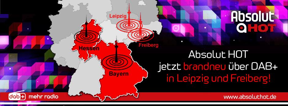 Absolut HOT startet in Leipzig und Freiberg via DAB+