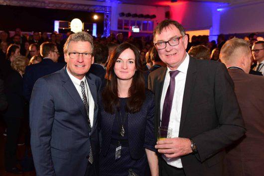 Dr. Bernd Buchholz(Wirtschaftsminister SH), Henriette Rieck (Stabsstelle Dachmarke SH), Peter Höver (Regierungssprecher Staatskanzlei Land SH)