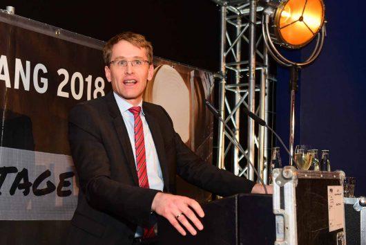 Ministerpräsident von Schleswig-Holstein Daniel Günther beim R.SH-Jahresempfang 2018