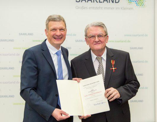 Minister Stephan Toscani mit Dr. Gerd Bauer (Bild: Anton Minayev).