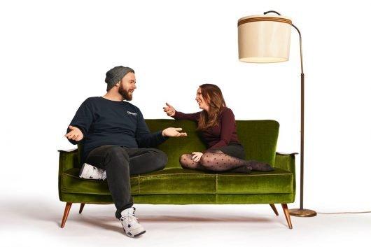 Max Nachtsheim und Corinna Blaich (Bild © hr/funk/Sebastian Reimold)