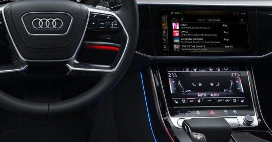 Online Radio im Auto: radio.net ermöglicht Webradio im Audi A8 (Bild: radio.de)