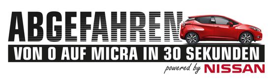 Auto-Gewinnspiel bei NRW-Lokalradios: Abgefahren – von 0 auf Micra in 30 Sekunden