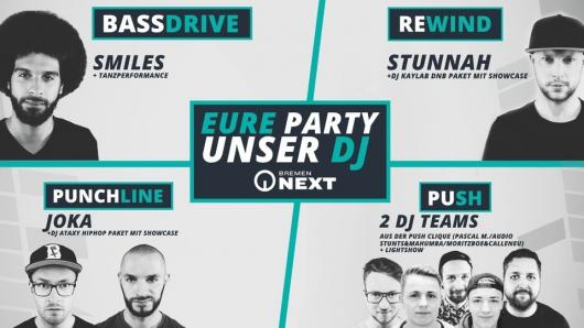 BremenNEXT - Eure Party, unser DJ (Bild: Radio Bremen - Pascal Mühlhausen)