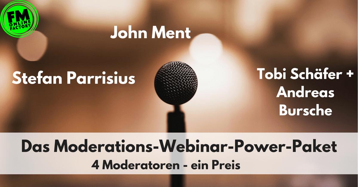 Das Moderations-Webinar-Power-Paket mit Stefan Parrisius, John Ment und Tobi Schäfer/Andreas Bursche