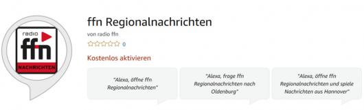 Alexa serviert ffn-Regionalnachrichten