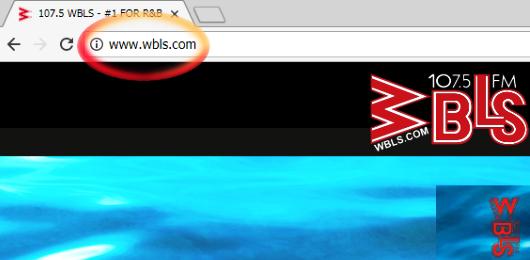 Screenshot WBLS-Homepage