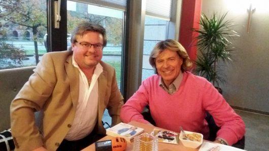Hansi Hinterseer und Sascha Eibisch (Bild: extra-radio(