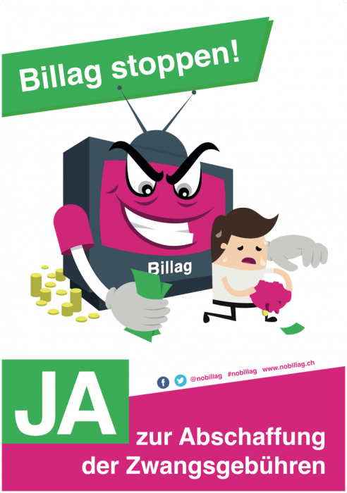 No Billag-Plakat