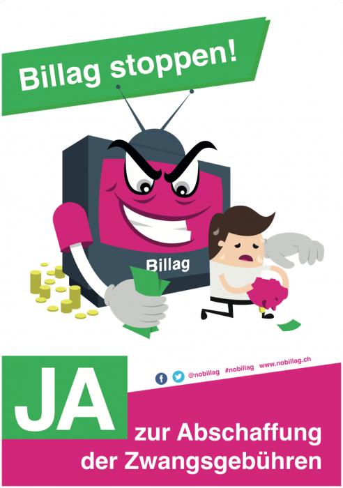 No Billag-Plakat