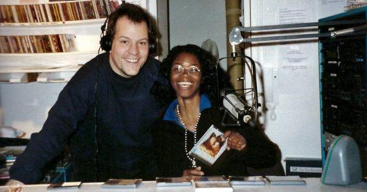 Jörg Wachsmuth und Donna Renee im 93,6 JAM FM-Studio 1996 (Bild: ©WMG)