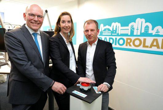 Harald Gehrung, Cornelia Holsten und Mathias Bartels starten das neue Radio Roland (Bild: radio ffn)
