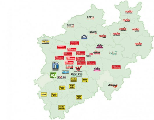 Die Lokalradios in Nordrhein-Westfalen (Grafik: radio NRW)