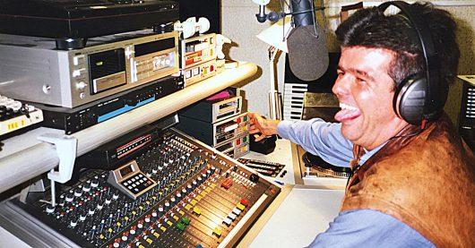 Wolfgang Kreh im Studio von Xanadu 93,3 am 8.9.1989 (Bild: ©Ulrich Köring)