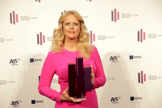 Barbara Schöneberger mit radio Advertising Award 2018