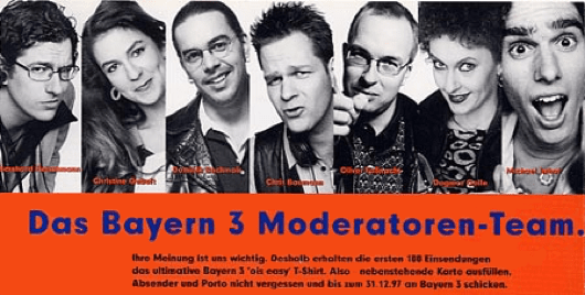 Bayern 3 Moderatoren aus der Anfangszeit (Bild: B3-History.de)