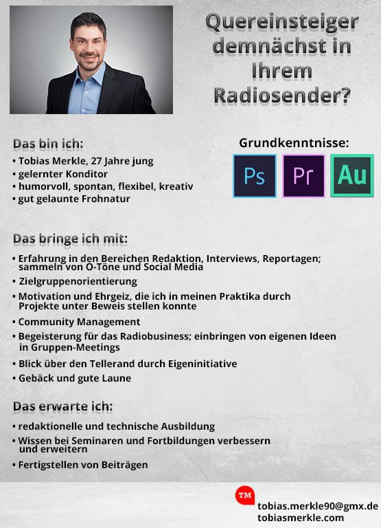 Quereinsteiger demnächst in Ihrem Radio?