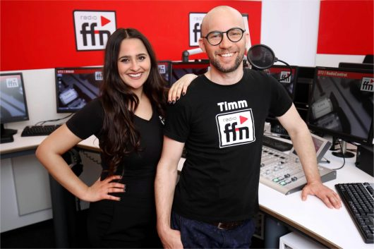 ffn Selin Kahya und Timm 'Doppel-M' Busche Studio (Bild: © radio ffn)