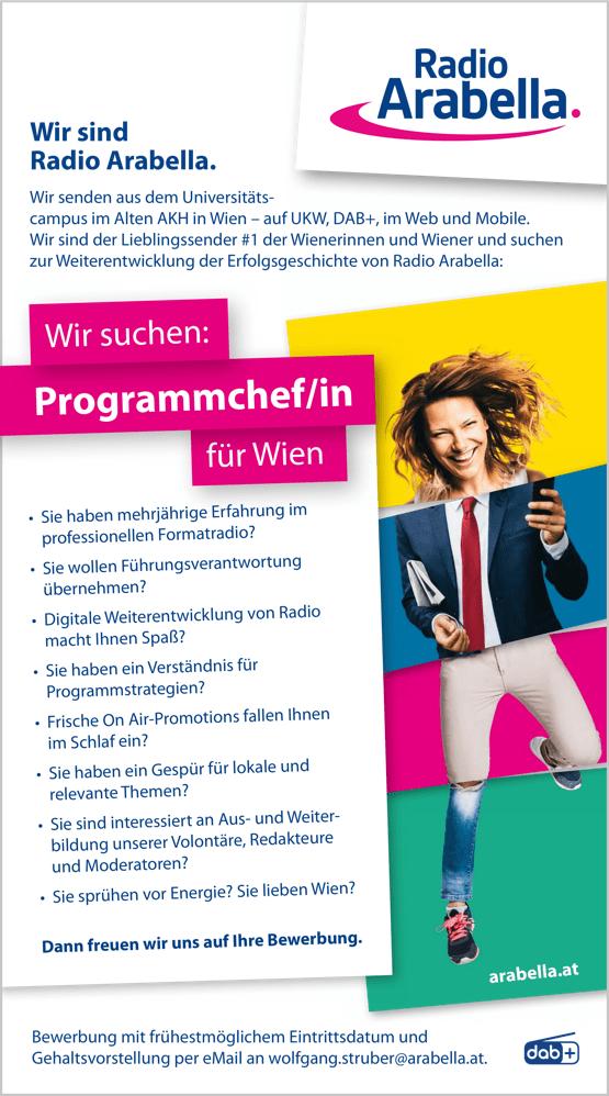 Radio Arabella sucht Programmchef/in für Wien