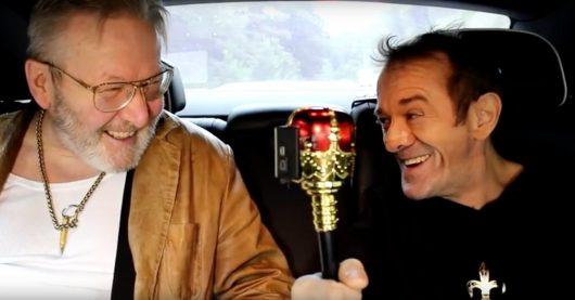 Matthias Holtmann & Achim Glück im Roll Royce (Bild: YouTube-Screenshot)