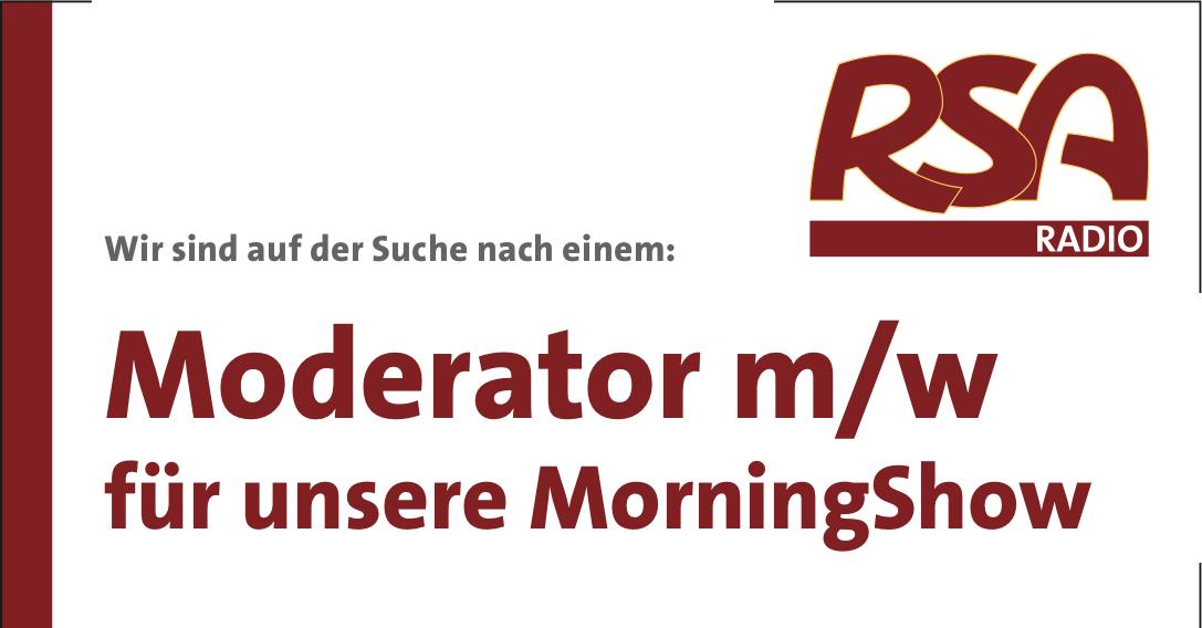 rsa radio sucht moderator m w f r die morgenshow radioszene. Black Bedroom Furniture Sets. Home Design Ideas