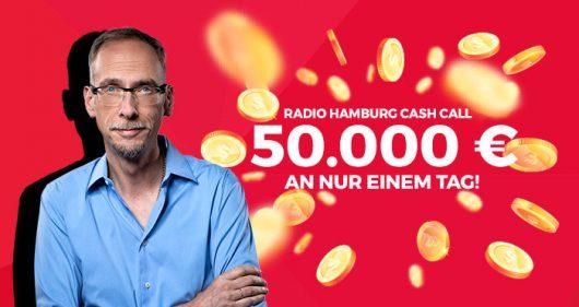 Cash Call: Radio Hamburg verschenkt heute 50.000 Euro