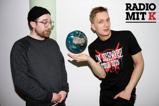 """""""Radio mit K"""" Felix Brummer (re.) und Steffen Israel (Bild: © rbb/Philipp Gladsome)"""