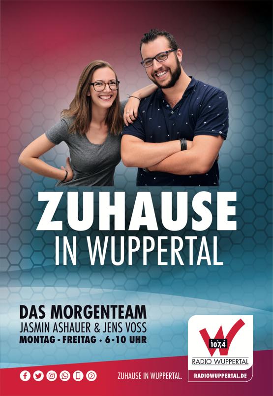 """Radio Wuppertal 107.4 mit neuem Morgenteam: """"Zuhause in Wuppertal mit Jens und Jasmin"""""""