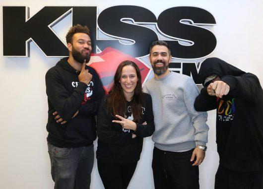 Bushido, Capital Bra, Big Moe und Nina bei KISS FM (Bild: © 98.8 KISS FM Berlin)