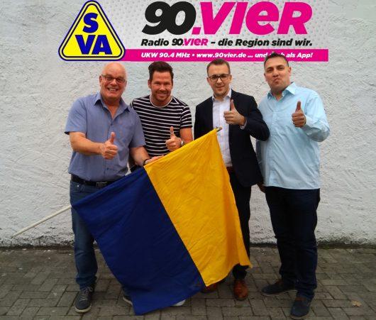 Jürgen R. Grobbin, Martin Scholz, Bastian Ernst, Dirk Laue (Bild: © Radio 90.vier)
