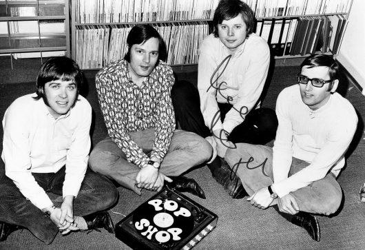 Pop Shop-Team 1970 mit Frank Laufenberg, Walther Krause, Karlheinz Kögel und Guido Schneider (Bild: ©Privatarchiv Frank Laufenberg)