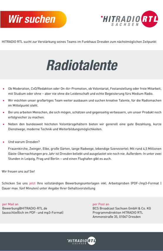 HITRADIO RTL sucht Radiotalente
