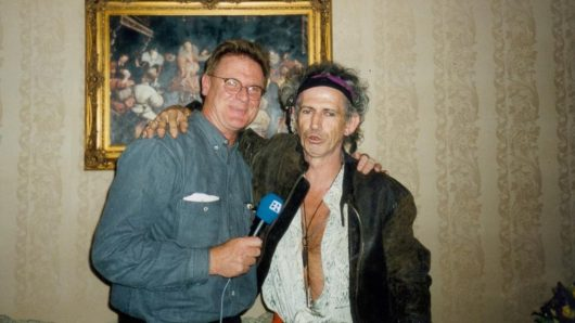 JimSamson und Keith Richards 1994 in New York (Bild: privat, Sampson)