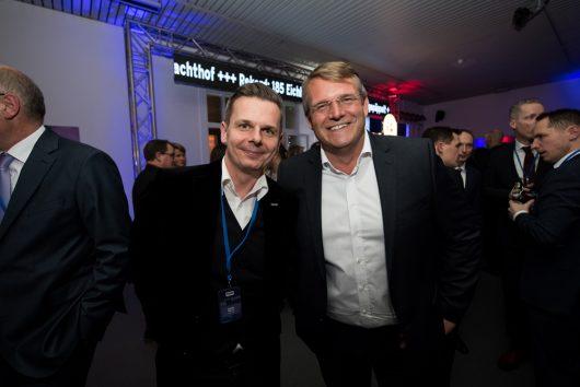 R.SH Jahresempfang 2019: Daniel Wolff (Programmchef Antenne MV) und Robert Weber (Geschäftsführer Antenne MV)