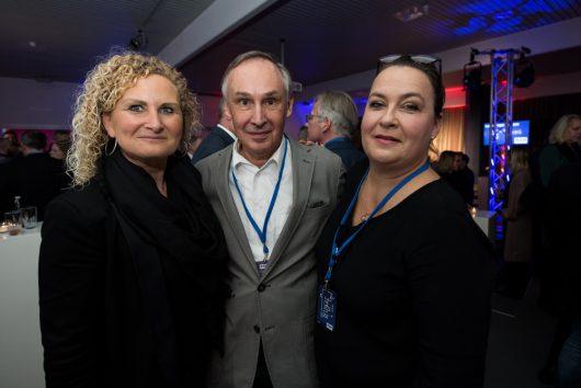 R.SH Jahresempfang 2019: Astrid Thiere (mir.) marketing im radio) , Robert Limper (Berater), Sandra Kretzer (Geschäftsführerin TOP Radiovermarktung)