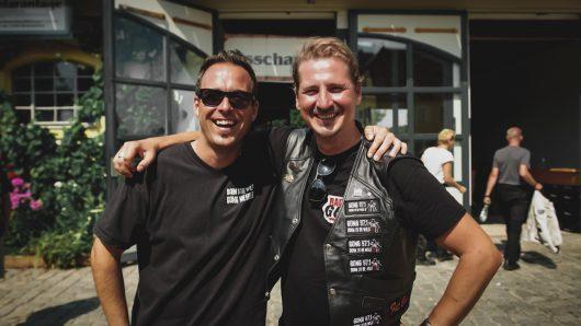 """Auch außerhalb des Radiostudios sind Martin und Guido seit 10 Jahren unterwegs. Hier im letzten Jahr bei der """"Born To Be Wild""""-Motorradausfahrt von Radio Gong."""