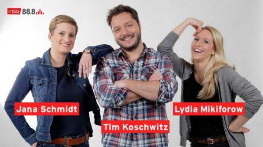 Jana Schmidt, Lydia Mikiforow und Tim Koschwitz (Bild: ©rbb)