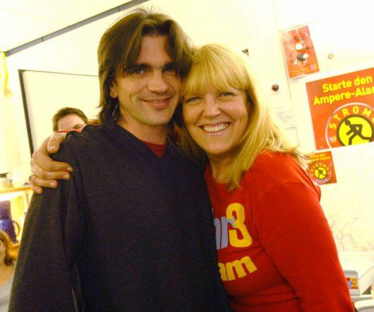 Lidia Antonini mit Juanes (Bild: ©hr)